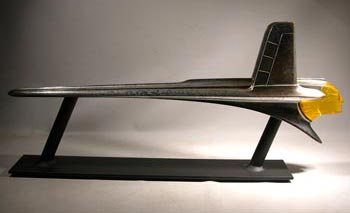 Vintage 1953 Pontiac Catalina Hood Ornament Custom Display Stand - Front