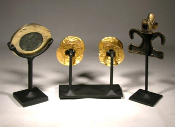 Pre Columbian Gold Custom Display Stands - Back