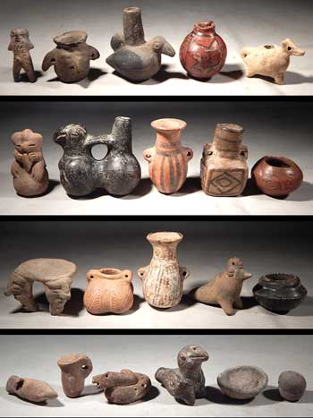 Pre Columbian Miniatures Collection Figures Vessels