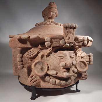 Pre-Columbian Quiche Maya Cache Vessel Custom Display Stand.