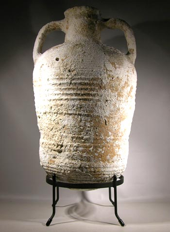 Roman Wine Amphora Custom Display Stand - back