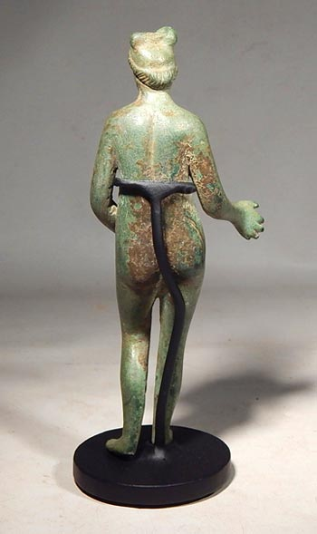 Ancient Roman bronze figure of Venus Custom Display Stand. (back)