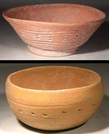 Roman Holy land Incised Terracotta Bowls