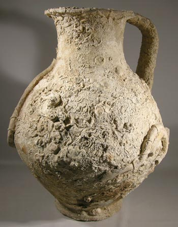 Ancient Roman Sea Encrusted Pottery Amphora Pitcher