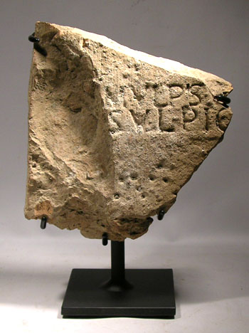 Roman Engraved Stone Plaque Custom Display Stand