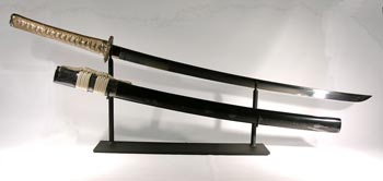 Japanese Samuri Sword Custom Display Stand - Front