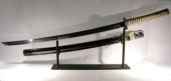Japanese Samuri Sword Custom Display Stand - Back