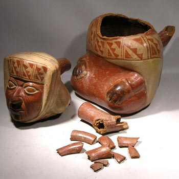 Moche Stirrup Vessel - Before