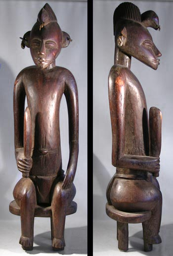 Senufo Carved Seated Figure