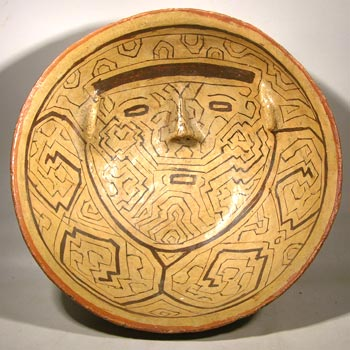 Shipibo Pottery Face Bowl