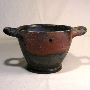 Greek Large Pottery Skyphos