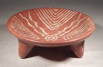 West Mexico Chupicuaro Tripod Pottery Bowl Vessel