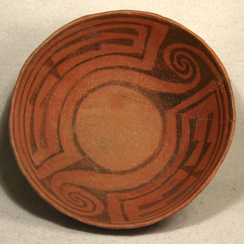 Carved Maya Bowl - After