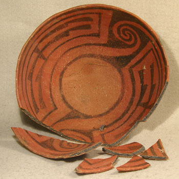 Carved Maya Bowl - Before