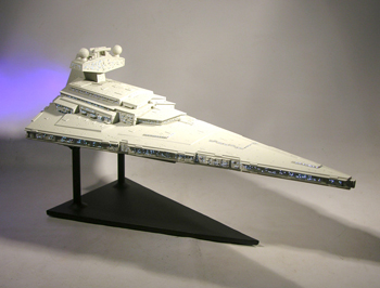 Star Wars, Star Destroyer Starship Model Custom Display Stand (front)