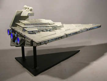 Star Wars, Star Destroyer Starship Model Custom Display Stand  (back)
