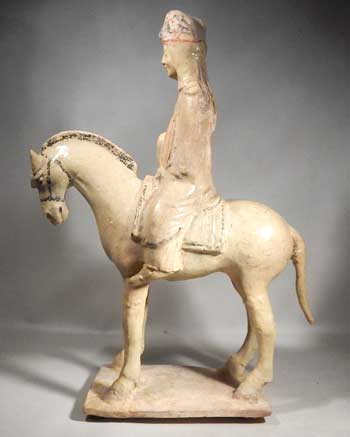 Chinese Sui Dynasty Horse and Rider Equestrian Figure