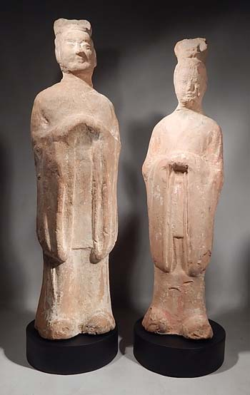 Ancient Chinese Tang Dynasty Attendant Figures