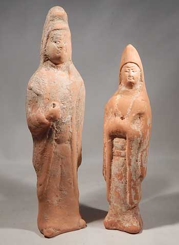 Chinese Tang Dynasty Terracotta Pottery Tomb Attendants