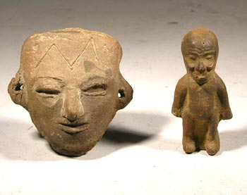 Teotihuacan Miniature Mask and Figure