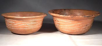 Ancient Mexico Teotihuacan Orangeware Pottery Bowls Vessels
