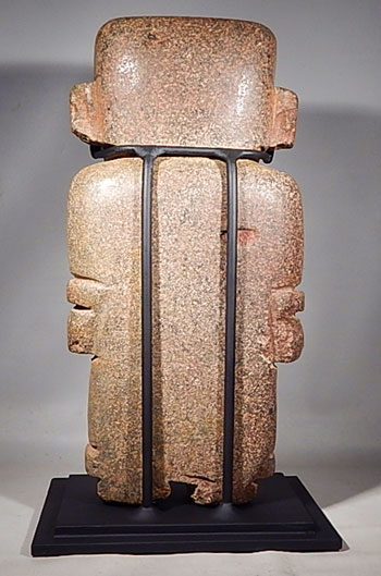 Teotihuacan Stone Standing Figure Ancient Mexico Custom Display Stand (back)