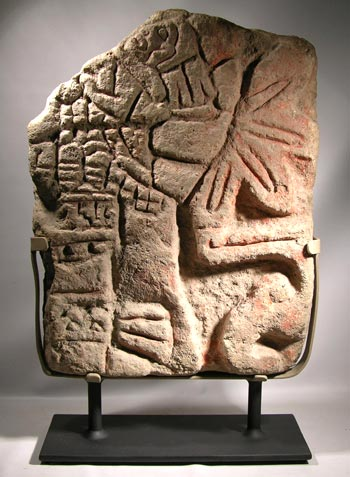 Toltec Stone Carving Custom Display Stand - front