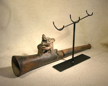 Moche Trumpet Custom Display