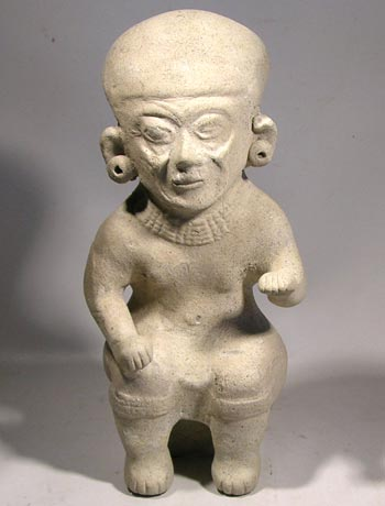 Tumaco - La Tolita Seated Elder Figure
