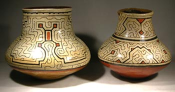 Two Shipibo Pottery Ollas