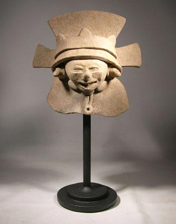 Vera Cruz Pottery Smiling Figure Head Fragment