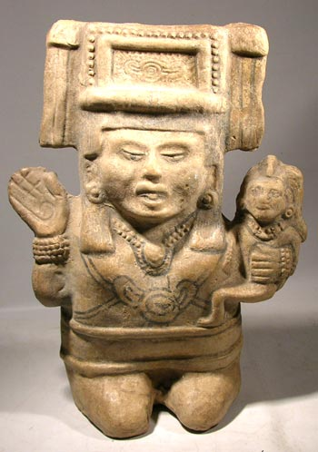 Veracruz Nopiloa Maternal Figure with Rattles and Whistle