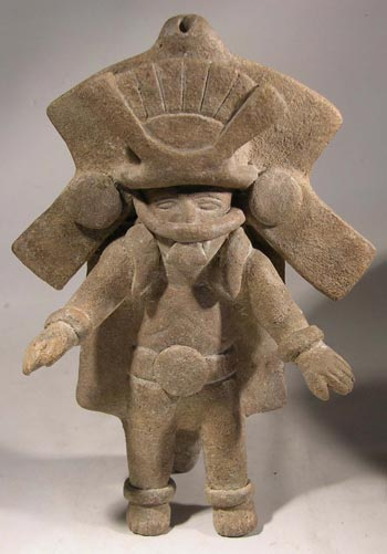 Vera Cruz Pottery Warrior Whistle Figure