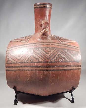 Pre-Columbian Wari Huari Drum Barrel Vessel