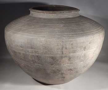 Warring States Very Large Terracotta Pottery Storage Vessel