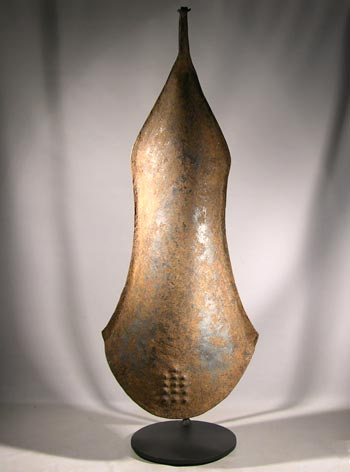 Yoruba Iron Gong Custom Display Stand - Front