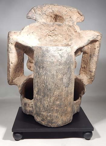 Ancient Monte Alban Zapotec Quetzal Urn Custom Platform Display (back).